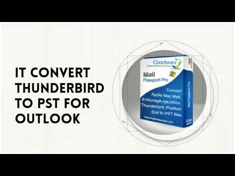 Thunderbird Export to PST with Mail Passport Pro