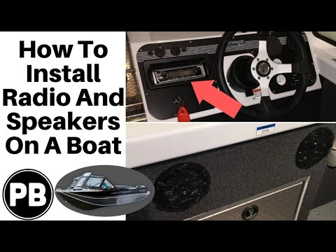 How to Install a Stereo and Speakers on your Boat! | Bluetooth Kenwood