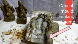 How To Make Ganesh Idol With Casting Mould | clay - Eco