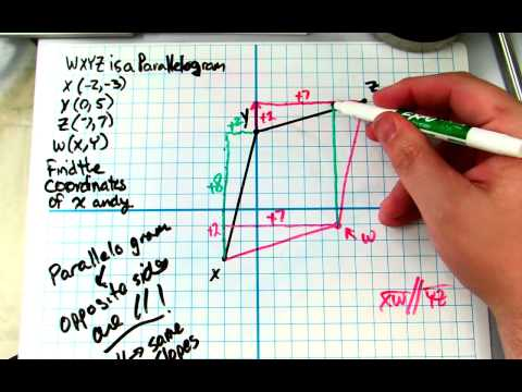 Finding the 4th pt of a quadrilateral