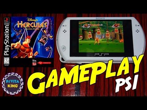 Disney's Hercules Action Game PS1/PSOne/PSP Go GamePlay  + Walkthrough [4K]