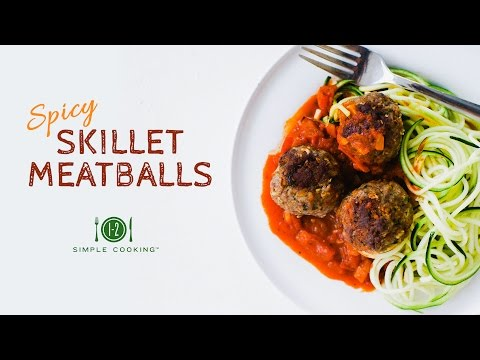 Spicy Skillet Meatballs | 1-2 Simple Cooking
