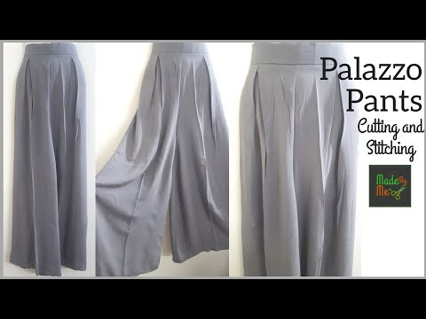 Palazzo Pants - Cutting and Stitching in Hindi (Pleated Palazzo)