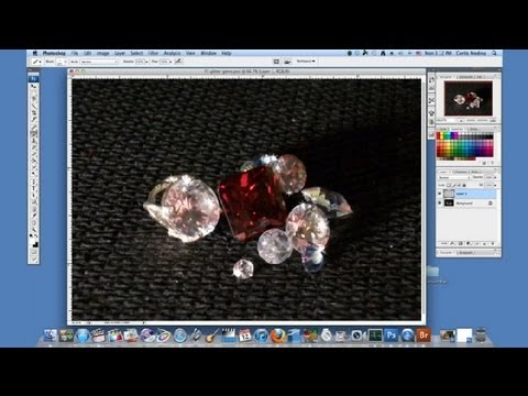 How to Glitter Gemstones on Photoshop : Using Adobe Photoshop