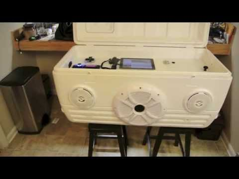 Ice Chest Speaker Cooler part 1 of 2