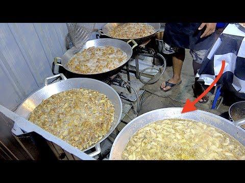 Soldier Street Food Chicken SKIN! Soldiers sell Huge Fried Crispy Chicken Skin in The World