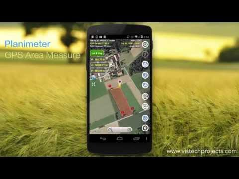 Planimeter - GPS Area Measure: Magnifying Glass in Touch Mode.