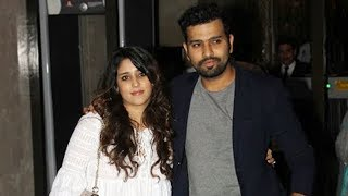 Rohit Sharma With Wife Ritika At Zaheer Khan & Sagarika Ghatge ENGAGEMENT