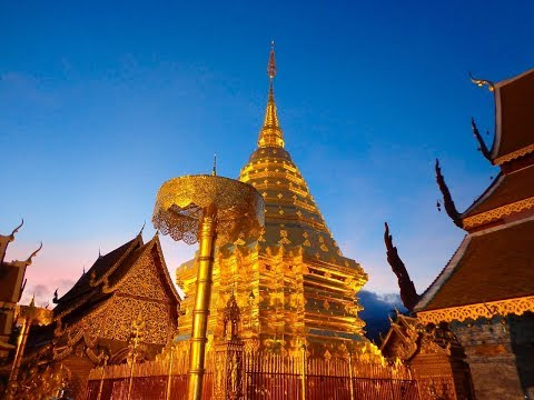 The Beautiful Wat Phra That Doi Suthep in Chiang Mai Thailand
