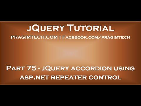 jQuery accordion using asp net repeater control