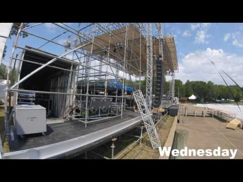 CountryJam Stage build video July 2016