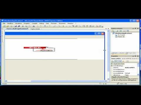 Creare un lettore pdf in visual basic 2008        YouTube