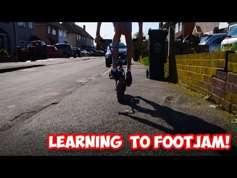 LEARNING TO FOOTJAM A ROCKER BMX!