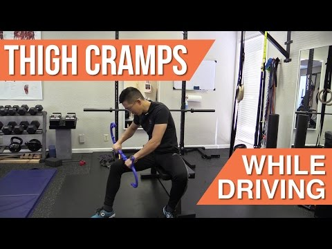 What can you do about thigh cramps while driving?