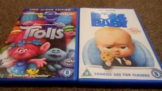 The Boss Baby And Cars 3 Uk Dvd Unboxing