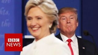 Moment Trump v Clinton debate turned nasty - BBC News