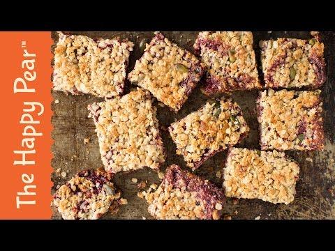 Raspberry Crumble Bars - The Happy Pear
