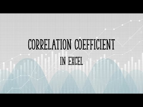 Find the Correlation Coefficient in Excel 2007