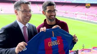 Google CEO pays visit to FC Barcelona