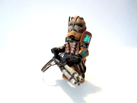 Custom LEGO - Star Wars - Geonosis Clone Heavy Gunner - Ray Shield Armor - Minifigure