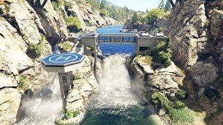 لن تصدق أن هذا القصر المبني فوق النهر موجود في جي تي أي 5   GTA V Mansion Mod