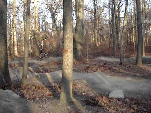 Me Riding the Pump Track at Cunningham Park