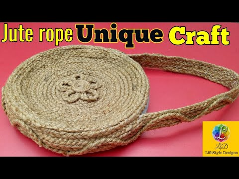 Ladies HandBag with Jute Rope | Cool Best out of waste Unique Idea | LifeStyle Designs