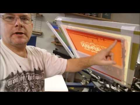 Using Cut Vinyl to screen-print a shirt