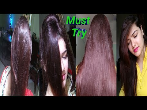 Dye Your Hair(RED/BURGUNDY) Naturally At Home.अपने बालों को खूबसूरत रंग दें घर पे आसानी से।