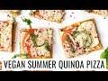 SUMMER QUINOA PIZZA with tomato & zucchini | VEGAN & GLUTEN-FREE