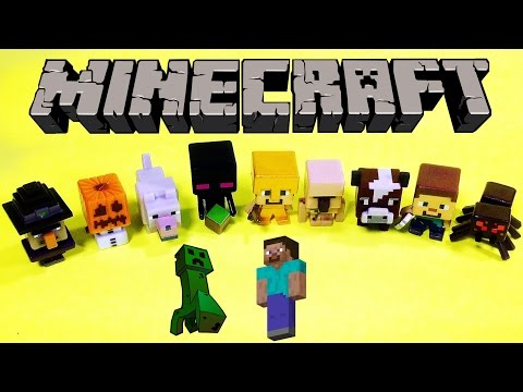 Minecraft Mini Figures Unboxing Toy Review + Game World