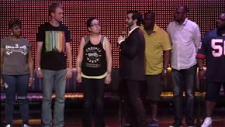 Hypnotist Marc Savard stops young man from stuttering live in hypnosis show!