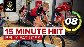 15 Min HIIT Cardio Indoor Cycling Workout   Belly Fat Loss Exercise