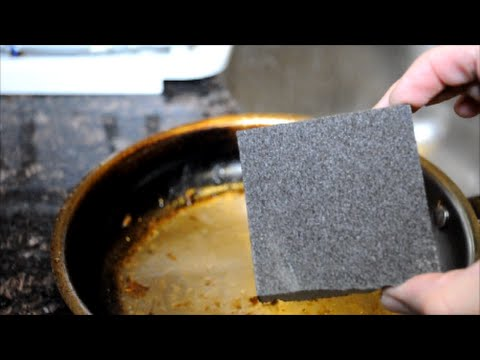 Remove Burnt Food from Stainless Pan with Sandpaper