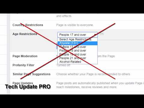 How do i add a age restriction to my facebook post or video ? | FB Page Problem 2018