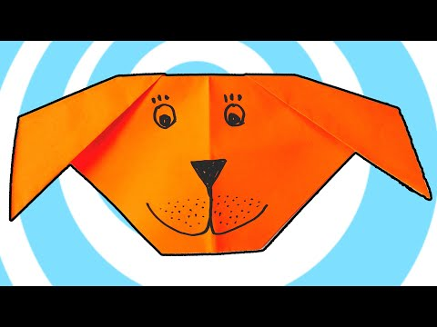 Origami Dog Face 🐶 Easy Tutorials for Kids