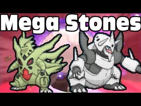 Mega Tyranitar X and Mega Aggron Y Evolution Stones Pokemon X Pokemon Y Tutorial