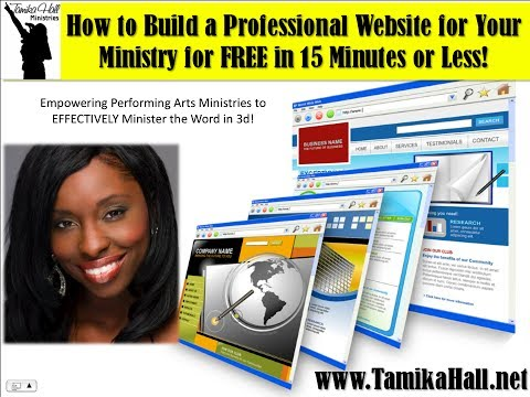 Make Your Own Free Ministry Website with Weebly