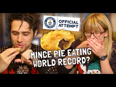 Mince Pie Eating - Guinness World Record Challenge!
