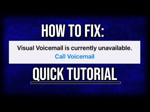 How To Fix: Visual Voicemail is Currently Unavailable!! | Quick Tutorial!