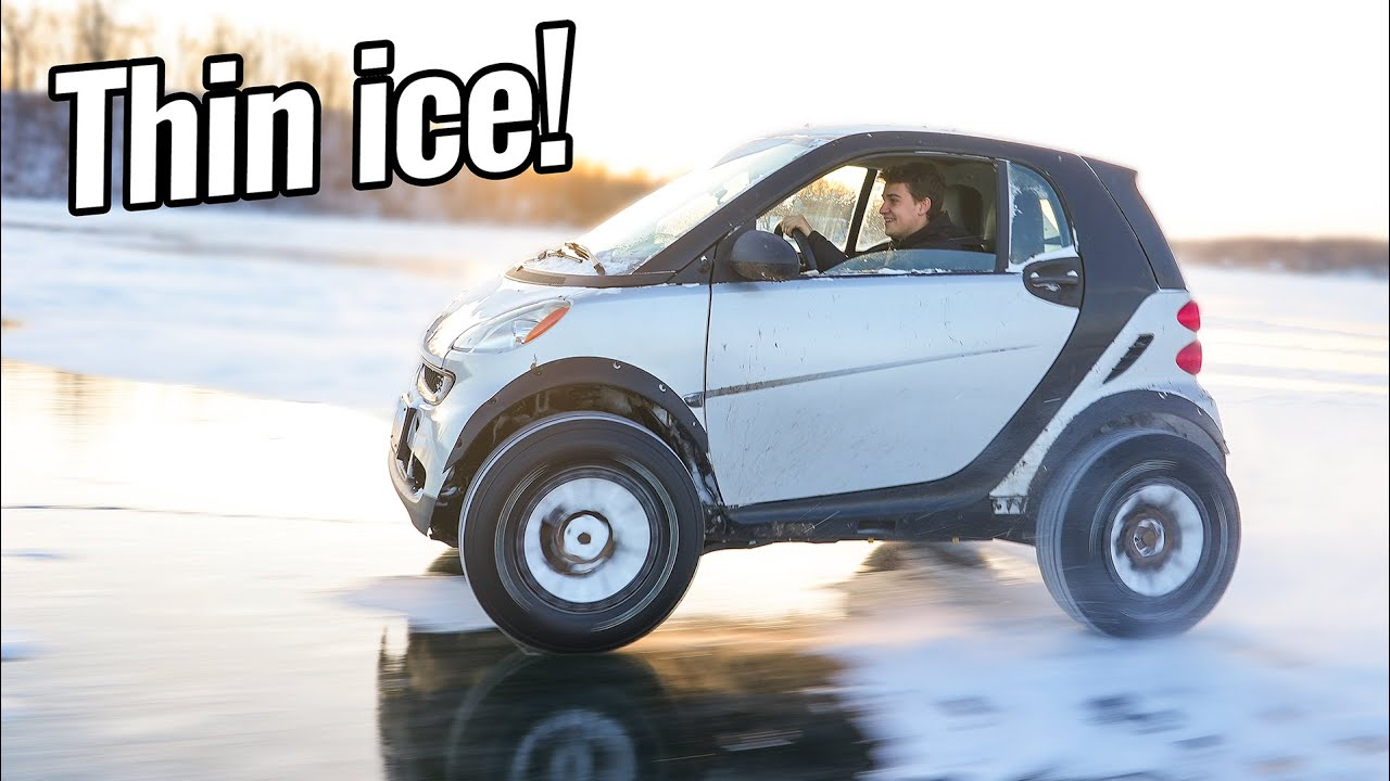 Lifted Smart Car on Thin Ice