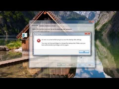 Apple OS X Boot Camp Windows Control Panel Error - Fix
