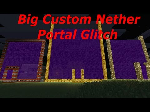 Minecraft PS3, PS4, Xbox, Wii U - Big Custom Nether Portal Glitch (TU31/TU32 Title Update)