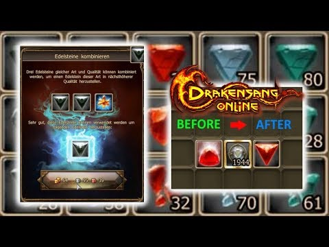 Drakensang Online #247: Gem Crafting with Joker Stone and Refiners: Royal Ruby and Onyx