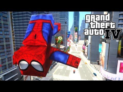 Minecraft Spiderman in Grand Theft Auto