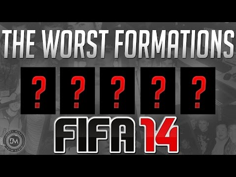 Top 5 Worst Formations in FIFA 14 Ultimate Team (FUT 14) Guide to Best Squad & Best Formations