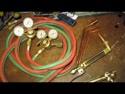 Oxy acetylene torch cutting settings