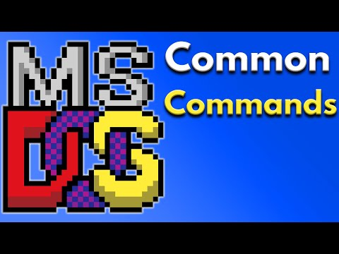 ms dos find command, change directory, dir command, and move file