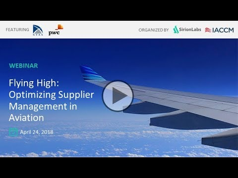 Flying High: Optimizing Supplier Management in Aviation