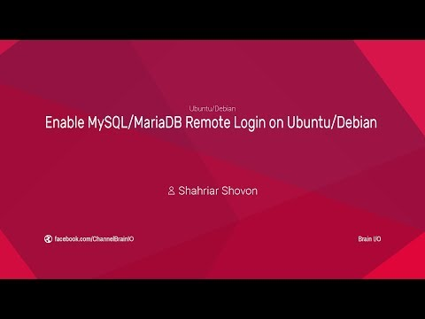 Enable MySQL/MariaDB Remote Login on Ubuntu/Debian